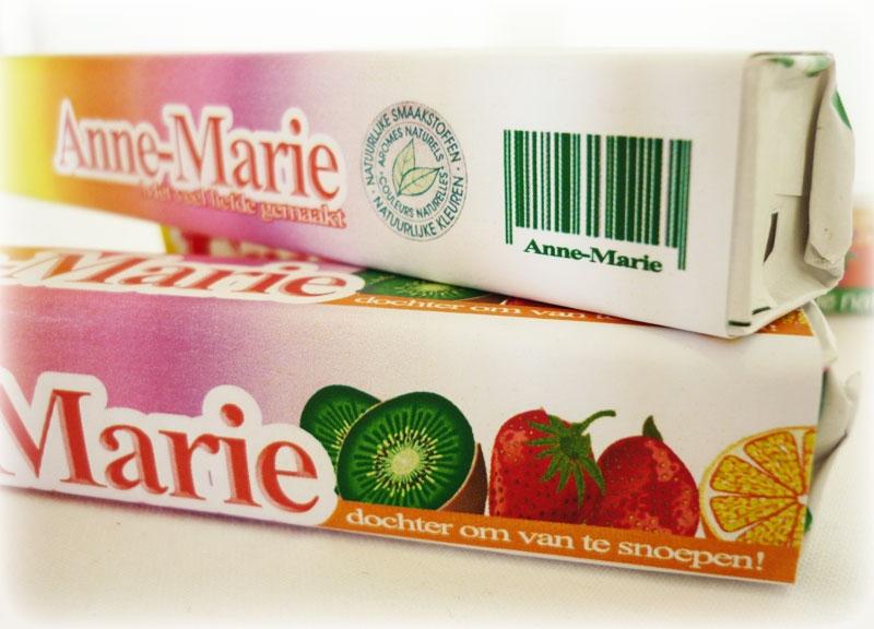 Fruit-tella met label