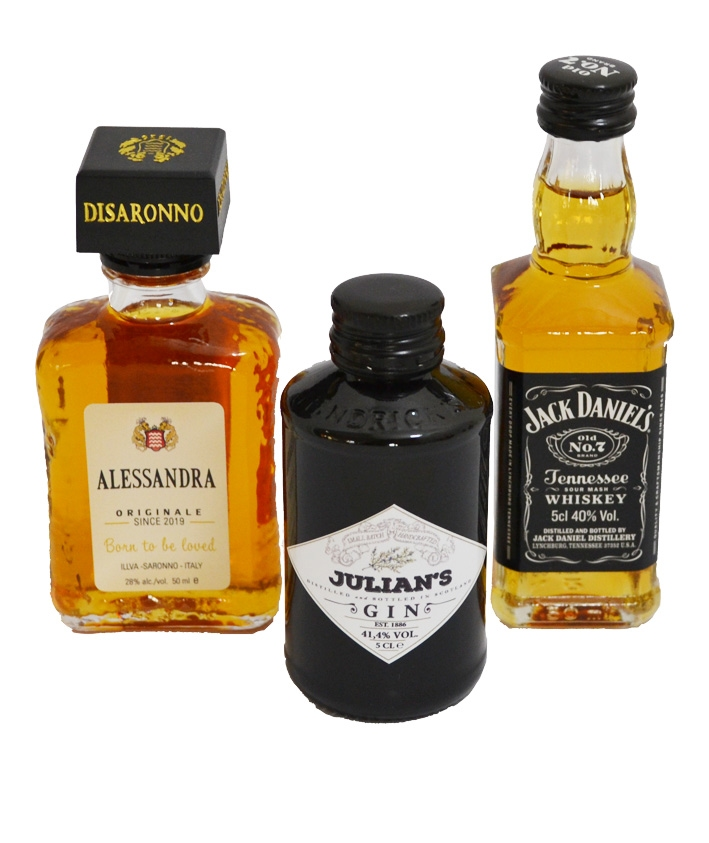 Miniflesjes sterke drank