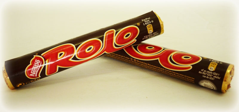 Rolo met label