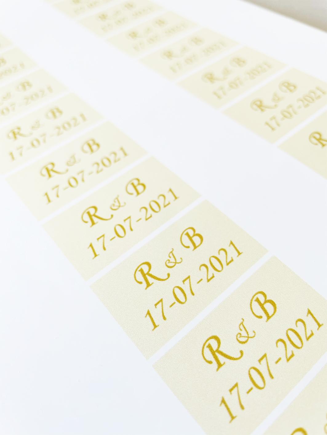 Vierkante stickers