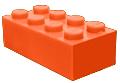 Oranje blokje