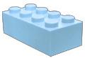 Lichtblauw blokje