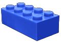 Blauw blokje