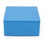 Blauw vierkant blikje