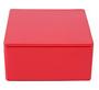 Rood vierkant blikje