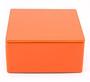 Oranje vierkant blikje
