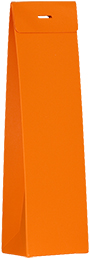 Hoog doopsuikertasje oranje