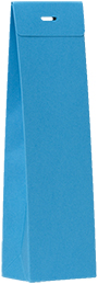 Hoog doopsuikertasje azuurblauw