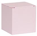 Kubus doosje roze glinsterend