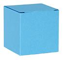 Kubus doosje azuurblauw