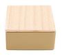 Goud vierkant blikje met houten dekseltje