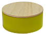 Metalen doosje lemon green met houten dekseltje