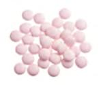 Smarties/lentilles roze