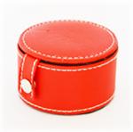 Lederen portemonnee rood