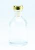transparant flesje met zilveren dopje