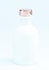 zwart flesje met naturel dopje