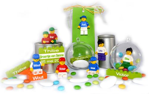 Doopsuiker Lego personaliseren